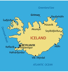 Iceland - map vector image