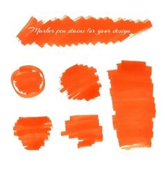 marker pen spots vector image