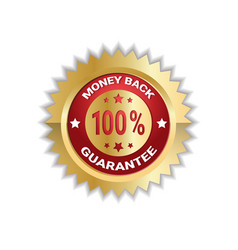 money back with 100 percent guarantee sticker vector image