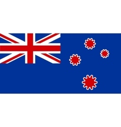 New Zealand flag with gears instead stars vector image vector image