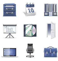 office icons 2 - bella series vector image vector image