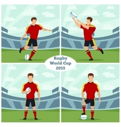 Rugby World Cup 2015 concept vector image