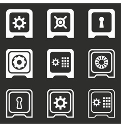 Safe icon set vector image