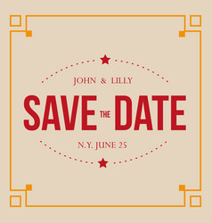 Save the date vintage sign vector