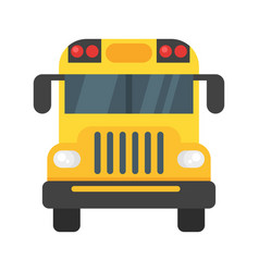 school bus front vector image