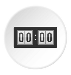 Scoreboard icon circle vector