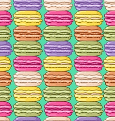 Seamless cute retro colored macarons pattern vector image vector image