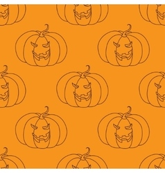 Seamless pattern with Halloween pumpkin vector image