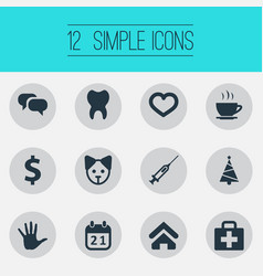 Set of simple brood icons vector