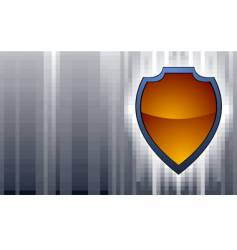 shield on abstract background vector image