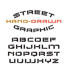 Stencil-plate font vector