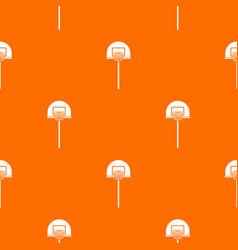 street basketball hoop pattern seamless vector image vector image