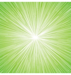 Sun burst blast background green vector