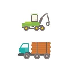 Timber truck vector