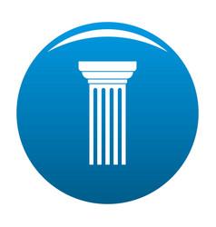 Triangular column icon blue vector