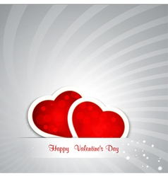 valentines day hearts background vector image vector image