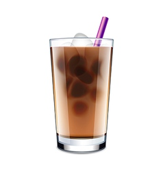 Ice coffee isolated on white vector