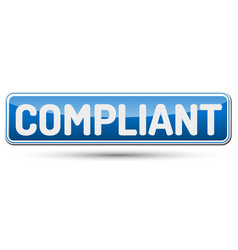 Compliant - abstract beautiful button with text vector