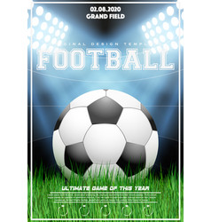 Poster template of football tournament vector