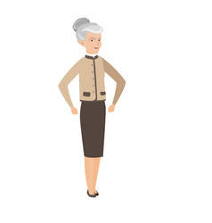 senior caucasian angry business woman screaming vector image