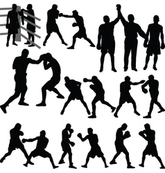 boxing match vector image