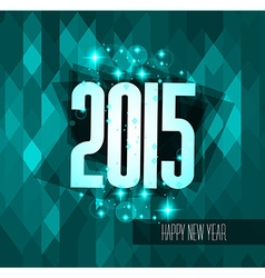 Original 2015 happy new year modern background vector