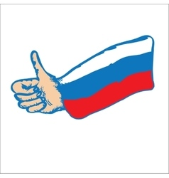 Russia thumbs up vector