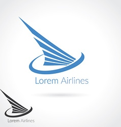 Wing abstract logo template for flight company air vector