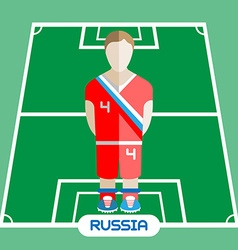Computer game russia soccer club player vector
