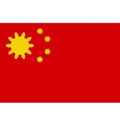 China flag with gears instead stars vector