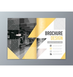Abstract brochure design template in a4 size vector