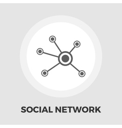 Social network icon flat vector
