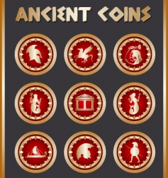 ancient coins vector image