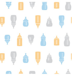 Baby seamless bottle pattern vector