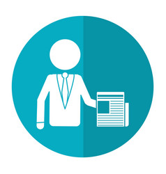 Business man document work office shadow vector