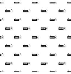 Departure information board pattern simple style vector