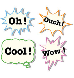 expressions in four different bubbles vector image vector image