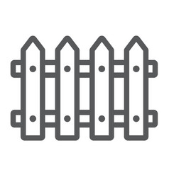 Fence line icon wooden and architecture vector
