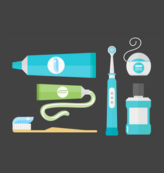 Flat health care dentist chemical color medical vector