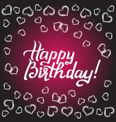 Happy birthday gift card vector
