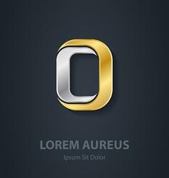 Letter o template for company logo 3d design vector