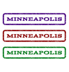 minneapolis watermark stamp vector image vector image
