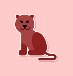 paper sticker on stylish background cartoon vector image