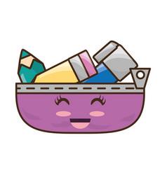 Pencil case cartoon vector