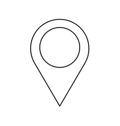 pin map location gps image outline vector image vector image