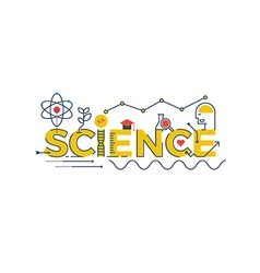 Science word vector image
