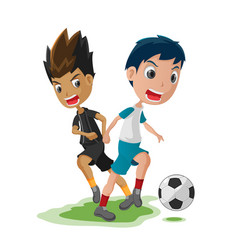 Soccer player cartoon match opponent vector