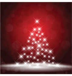 Sparkle christmas tree background vector