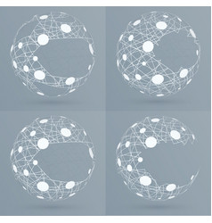 Sphere mesh with bubbles vector