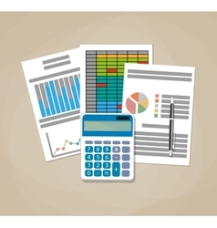 Spreadsheet concept Business background vector image vector image